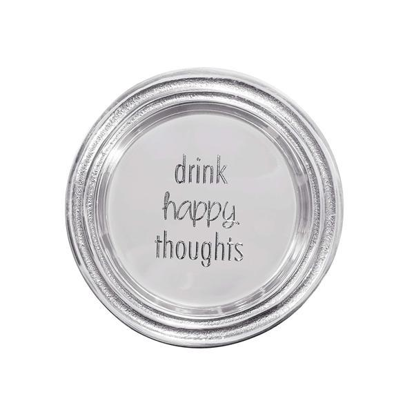 Drink Happy Thoughts Wine Plate