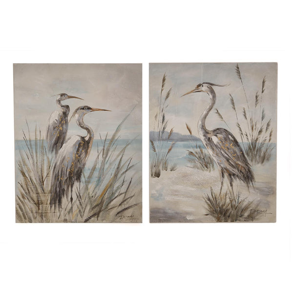 Shore Bird Hand Painted Wall Art