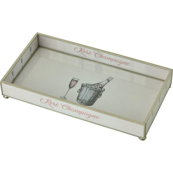 Rose Champagne Glass Tray