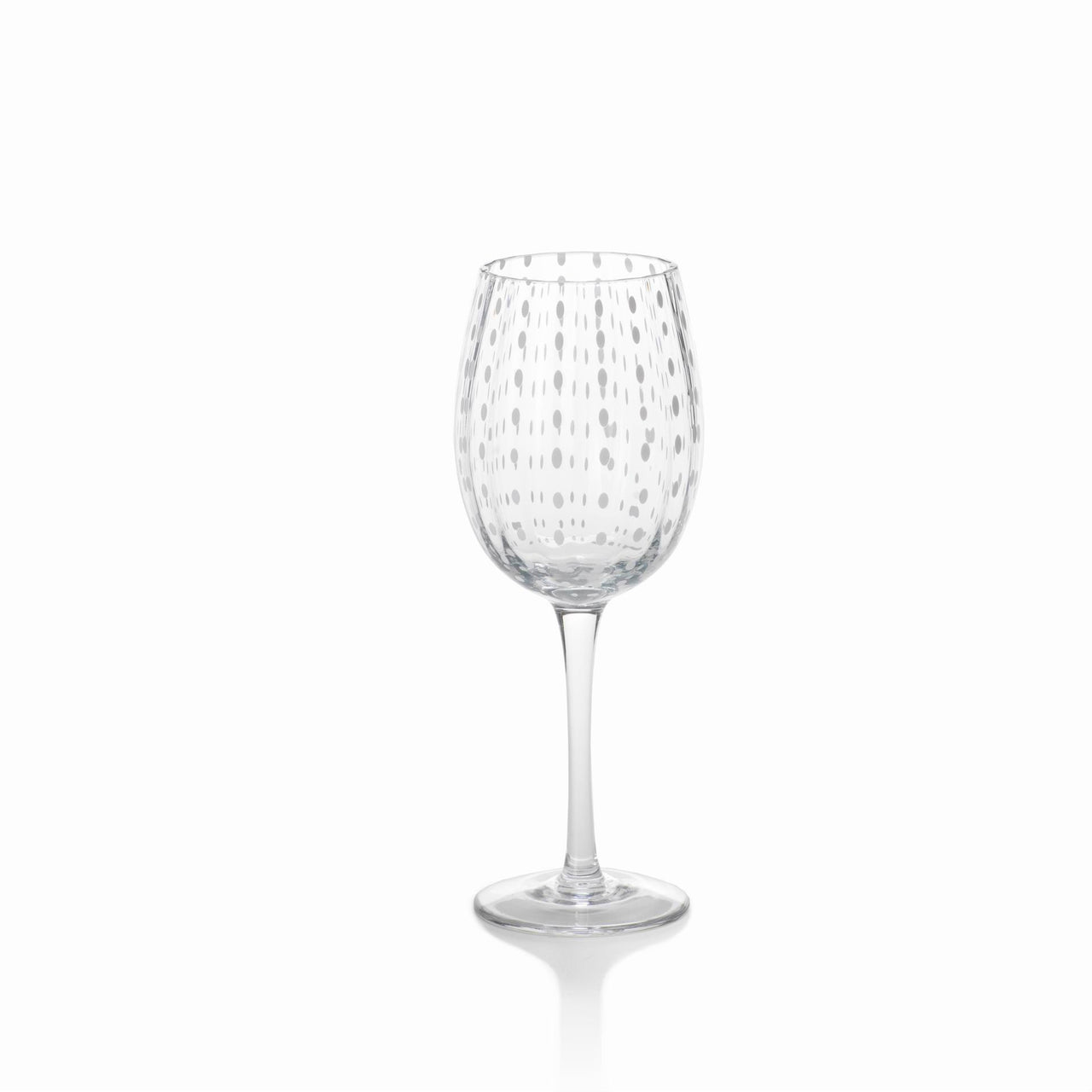 White Dot Wine Glass