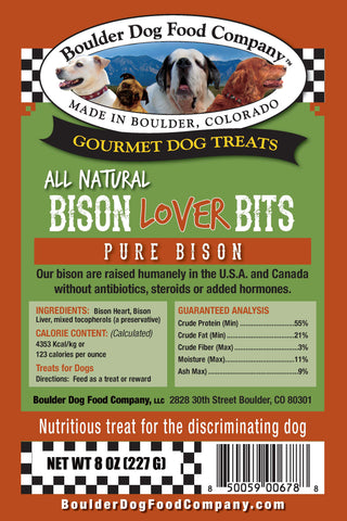 Bison Lover Bits for Dogs