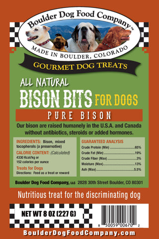 Bison Bits for Dogs