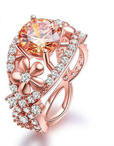 My Stunning Lady Rose Gold Color-Plated Ring