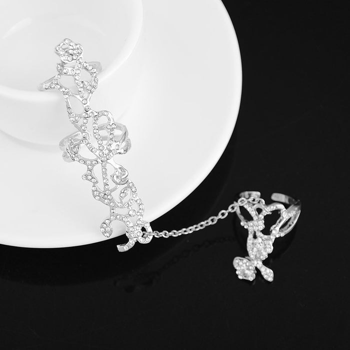 Wedding Bells Silver Chain Glamorous Rings