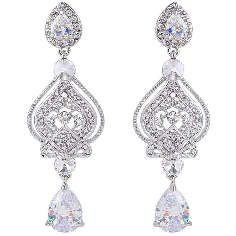 Regal Mary Love Silver-Tone Droplet Earrings