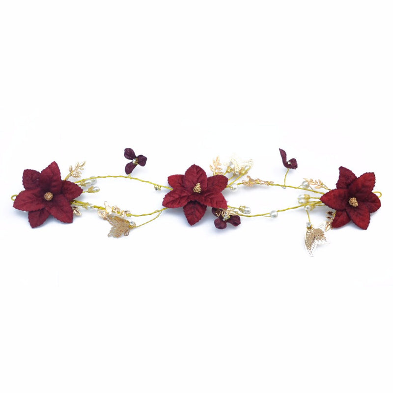Crimson Goddess Handmade Jewelry Headband