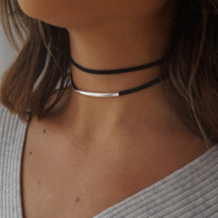 Born to Shine Double Layer Velvet Choker
