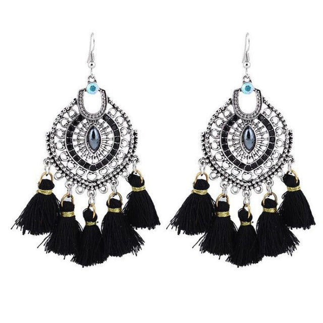 Pretty Kenna Exaggerated Vintage Tassel Earrings