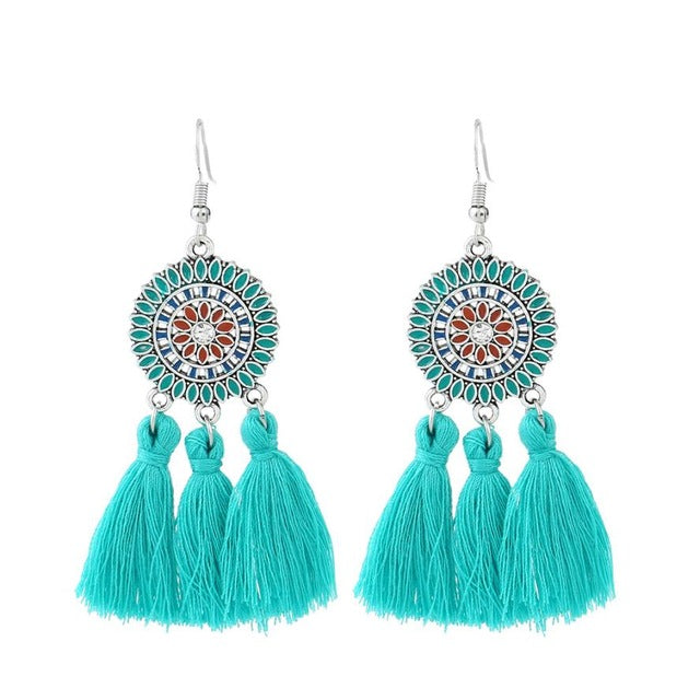 Dull Be Gone Bright Tassel Earrings