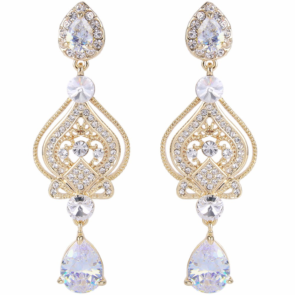 Regal Mary Love Gold- Tone Droplet Earrings