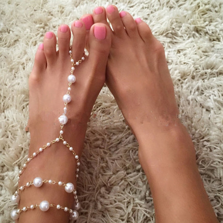 Delicate Pearl Anklet