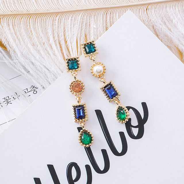 Geometric Elegance Drop Earrings