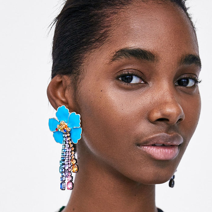 Sweet Petal Statement Earrings