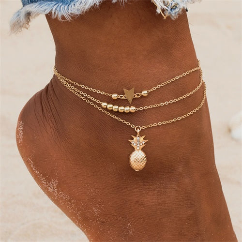 Pineapple-apple Anklet