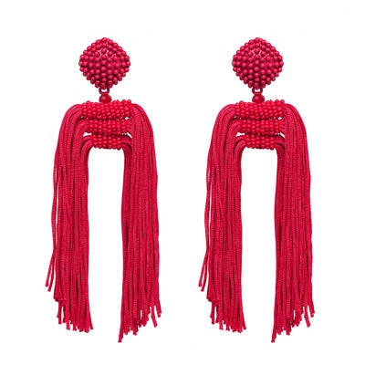 Cascading Love Drop Earrings