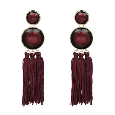 As I am Bohemian Statement Tassel Earrings