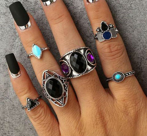 Rock You Out Vintage 6 piece Knuckle Rings