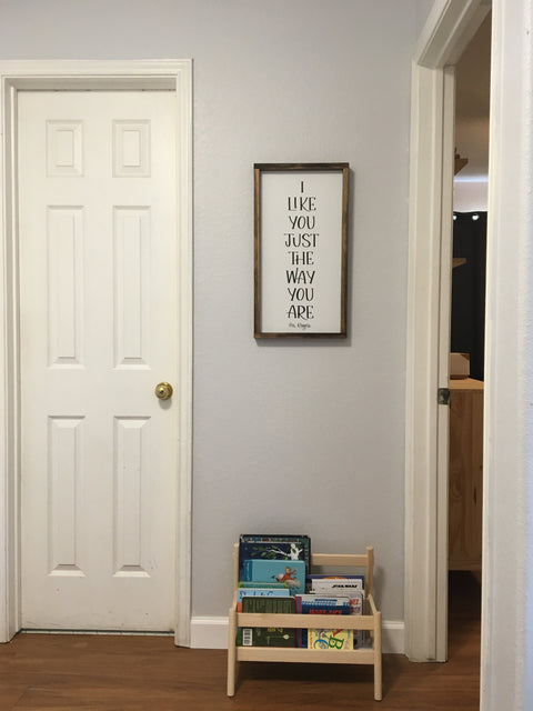 I like you just the way you are - Mr. Rogers | Framed Wood Sign