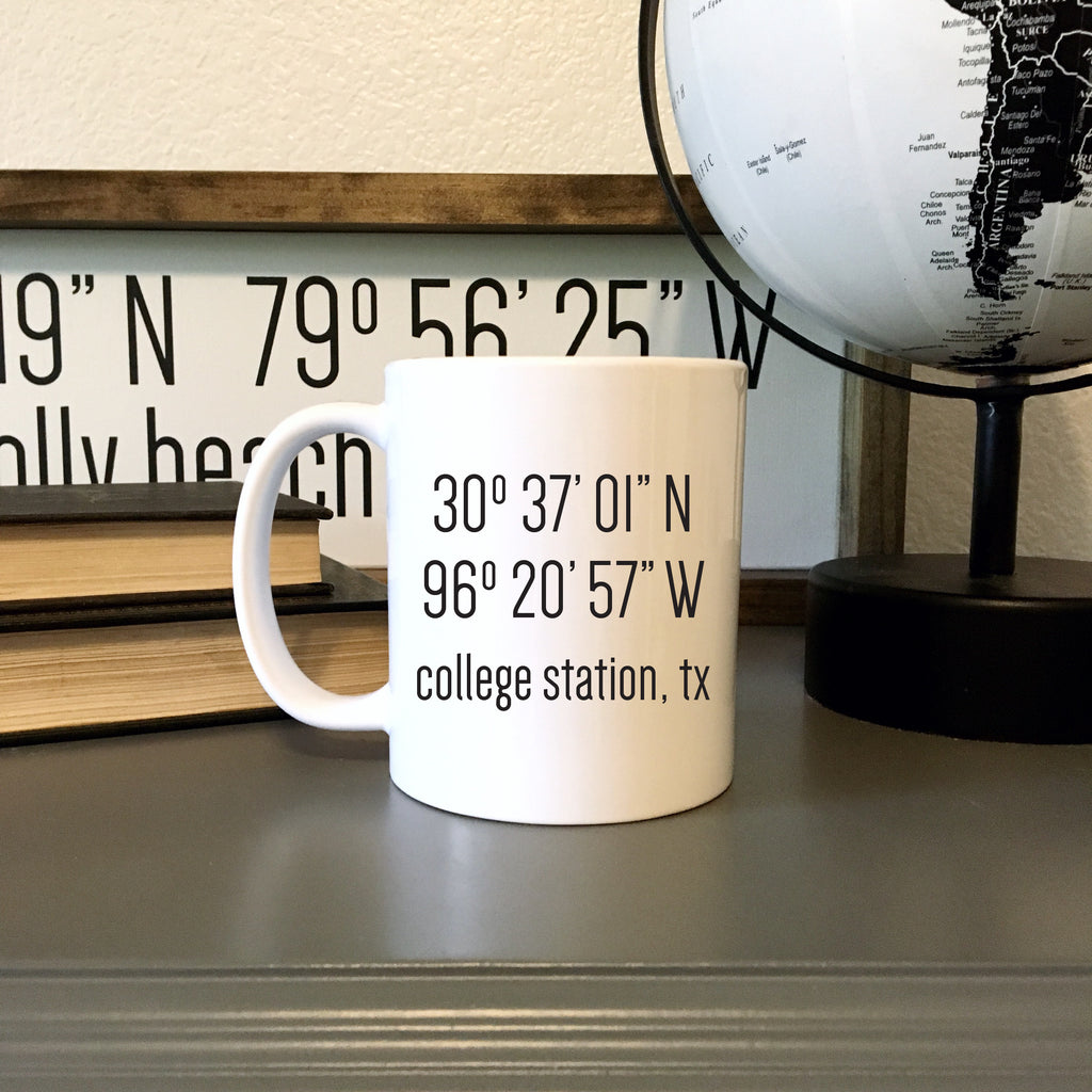 Latitude Longitude Mug | personalized mug