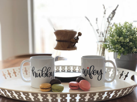 Hubby & Wifey | Set of Two Ceramic mugs