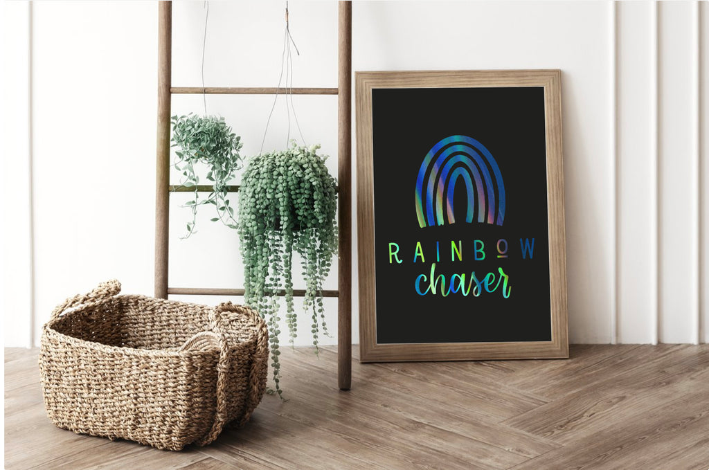 Rainbow Chaser Foil Print