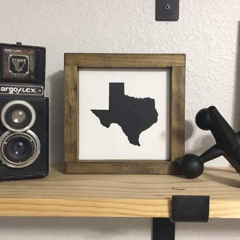 "State Silhouette | 7""x7"" 