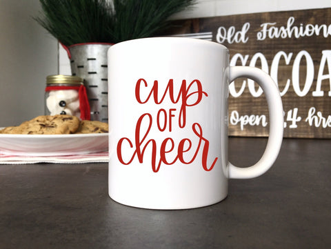 Cup of Cheer | Ceramic mugs | Christmas Mug | Holiday Mug
