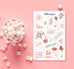 Valentine Tea Sticker Sheet