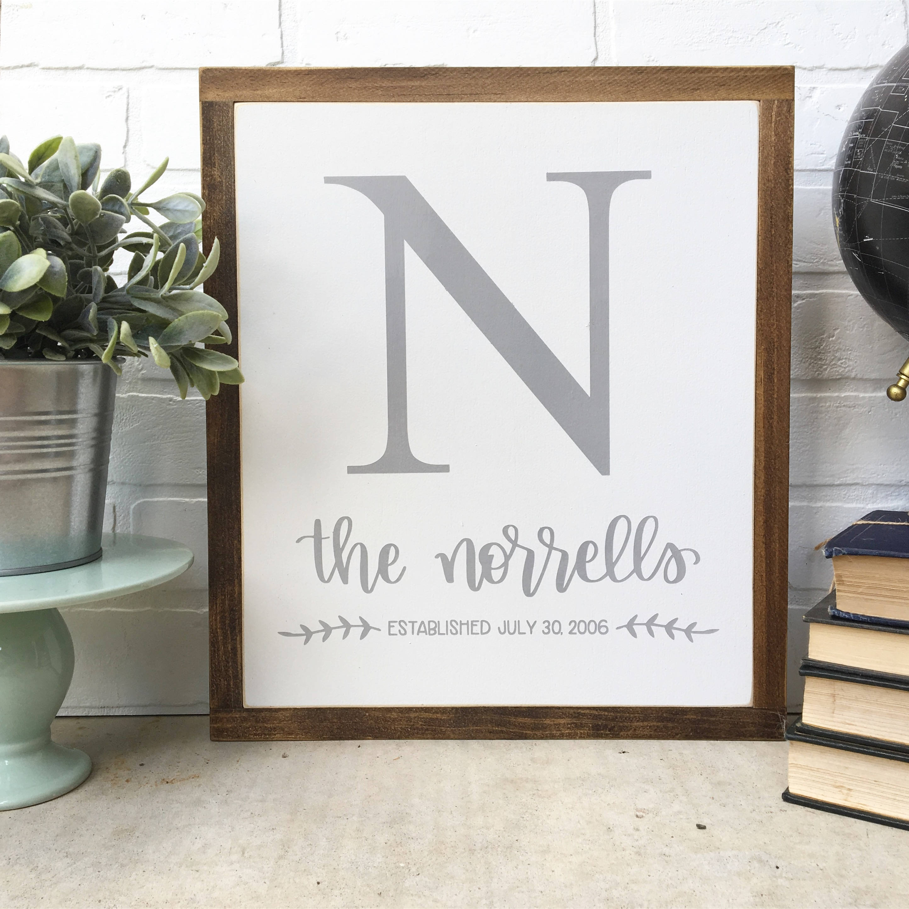 Personalized Last Name Wood Signs- Framed – MillionAyres Handmade