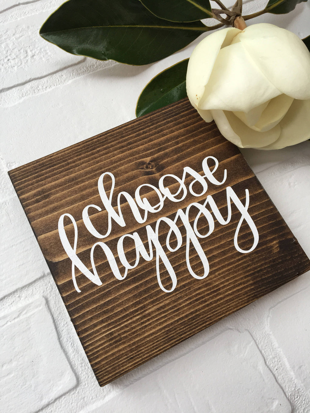 "choose happy | 5.5""x5.5"" Mini Wood Sign"