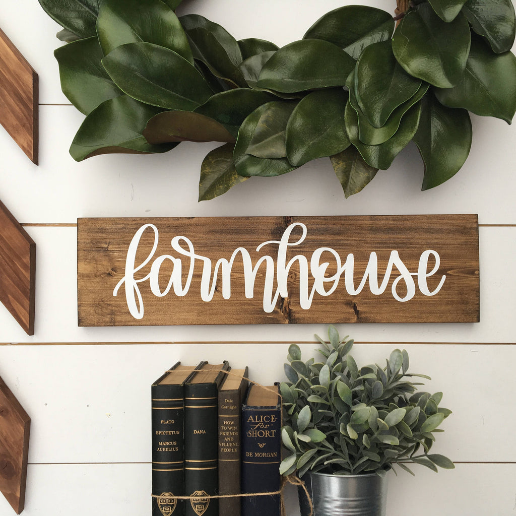 Farmhouse | 5.5x20 | Wood Sign