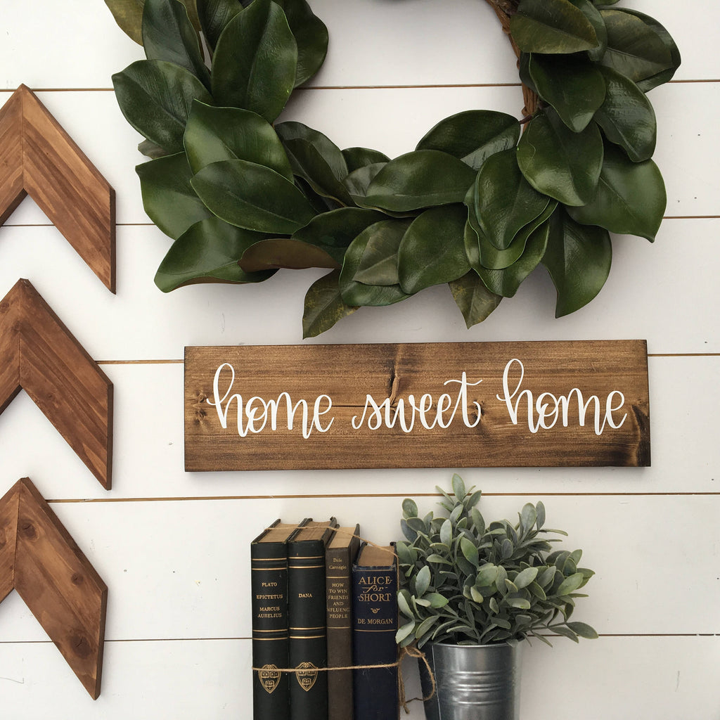 5.5 x 20 | home sweet home | Wood Sign