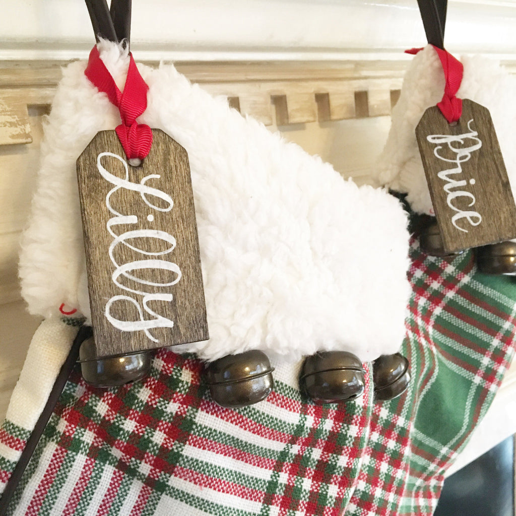 Christmas Stocking Name Tags - Personalized