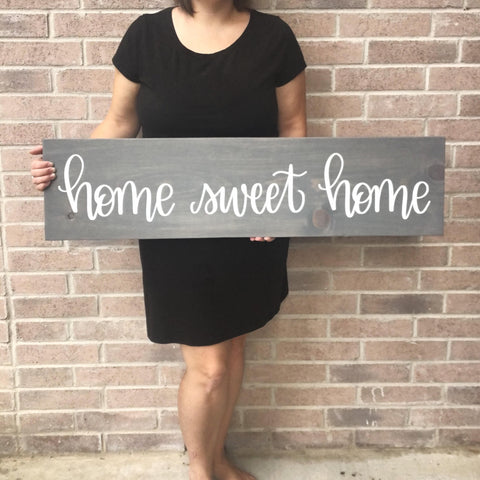 9.25 x 36 | home sweet home | Wood Sign