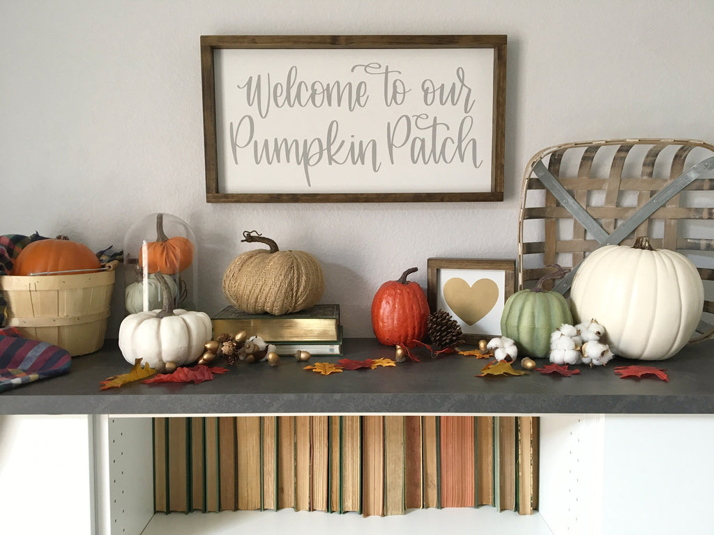 "Welcome to our Pumpkin Patch | 13""x24"" 