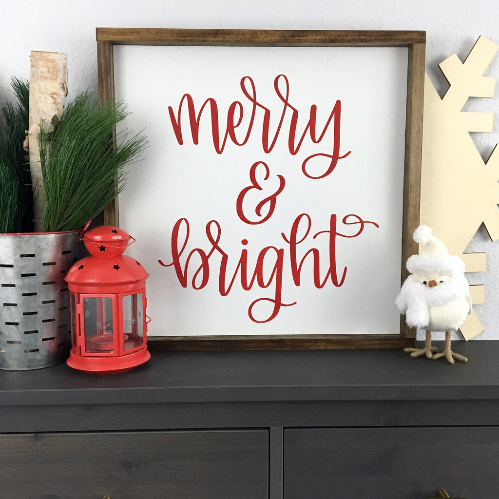 "Merry & Bright | 18""x18"" 