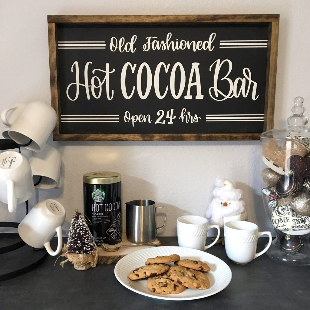 "Hot Cocoa Bar | 13""x24"" 