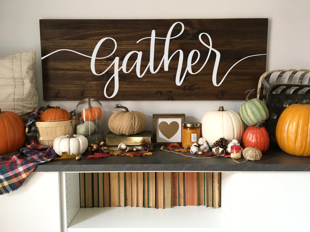 Gather | 17x48 | Dining Room Wood Sign