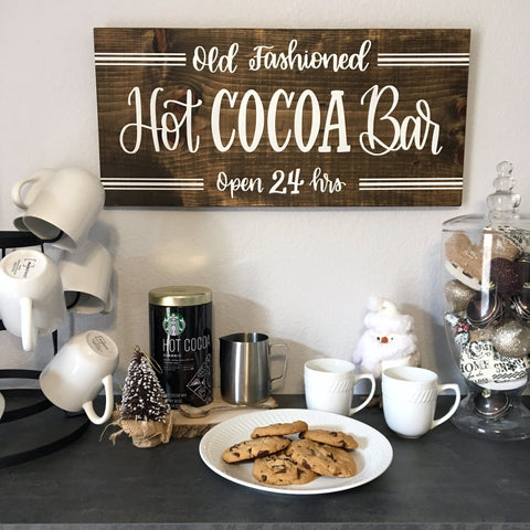 "Hot Cocoa Bar | 11.25""x24"" 