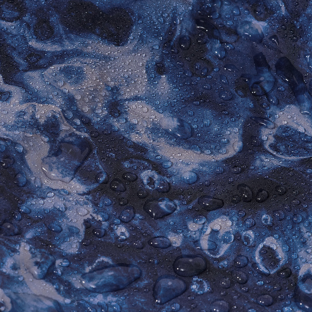 Blue Leif Podhajsky print waterproof recycled fabric by Ponch