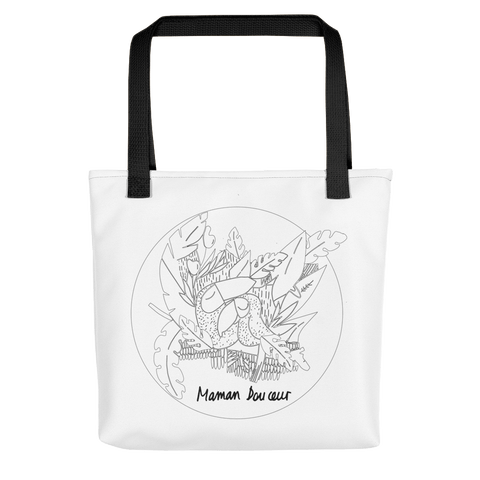 Collection BellyBulle - Tote bag - Maman Douceur - Noir & Blanc