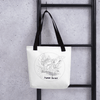 Image of Collection BellyBulle - Tote bag - Maman Douceur - Noir & Blanc