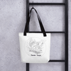 Image of Collection BellyBulle - Tote bag - Maman Toucan - Noir & Blanc
