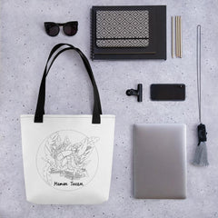 Collection BellyBulle - Tote bag - Maman Toucan - Noir & Blanc