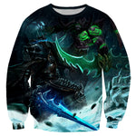 Lich King vs Illidan Stormrage Warcraft 3D Full Printing