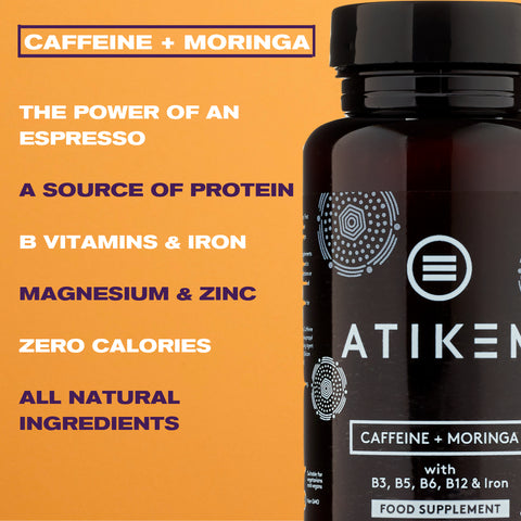Caffeine + Moringa Supplement (3x Pack)