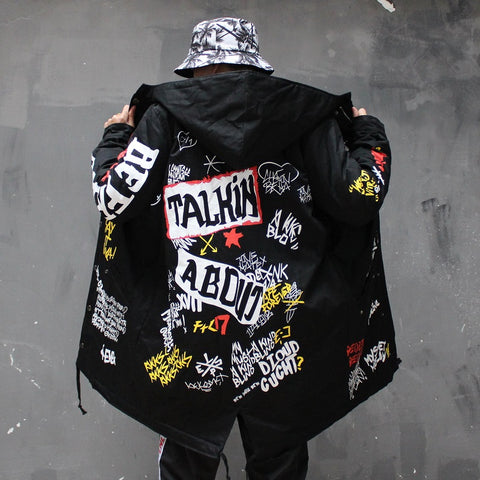 """TALKIN"" HIP HOP BOMBER JACKET"