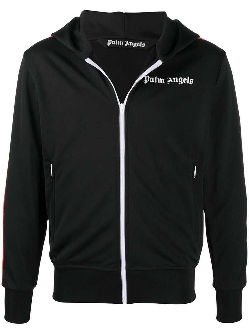 PALM ANGELS Rainbow Track Hoodie Black - Maison De Fashion