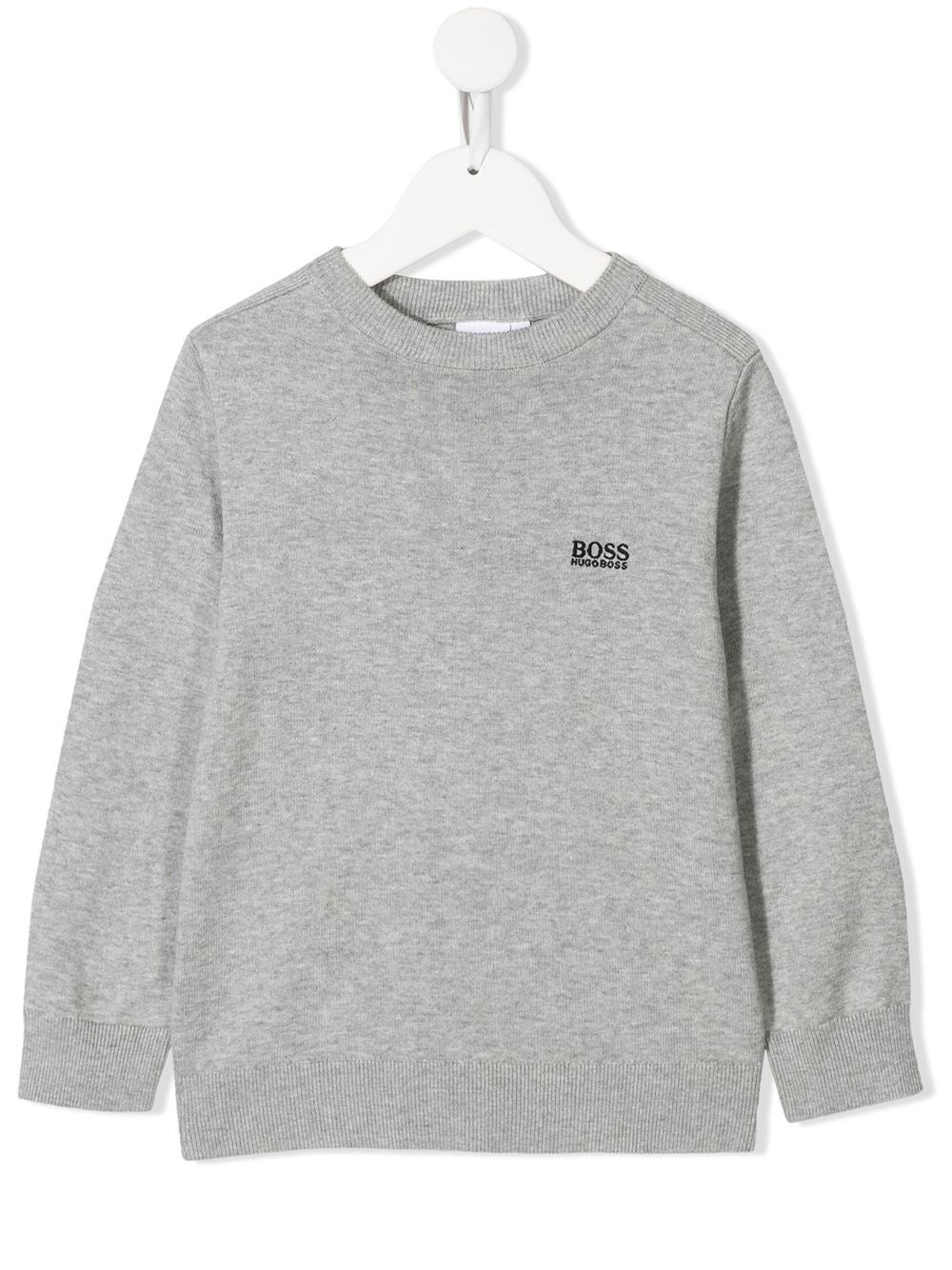 BOSS KIDS embroidered logo jumper - Maison De Fashion