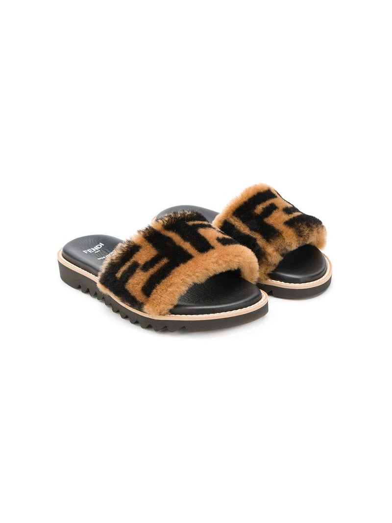 Fendi Kids printed FF logo sandals | Maison De Fashion